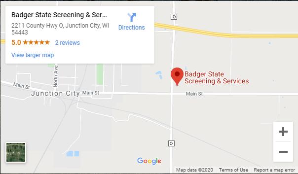 Badger State Screening Map
